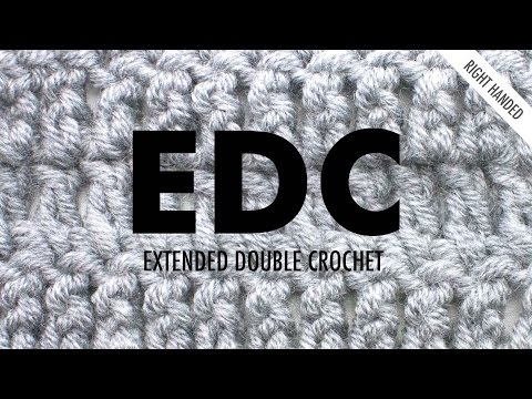 The Extended Double Crochet :: Crochet Abbreviation :: Right Handed