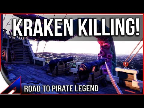 Killing the Kraken! |Episode 1| Road to Pirate Legend! | The Sea of Thieves PvP Game Play