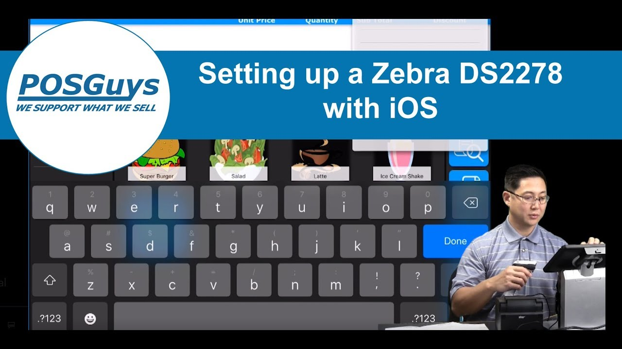 Setting up a Zebra DS2278 with iOS by POSGuys com