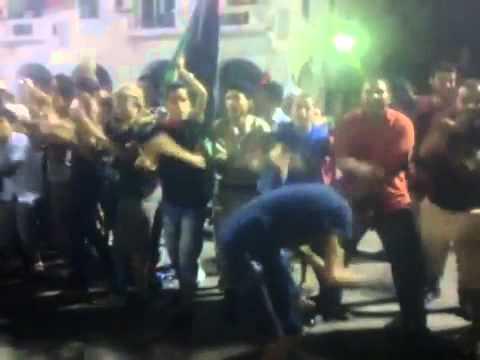 """Libya / Tripoli: NATO slave """"victory"""" celebration drill, """"Green Square"""""""