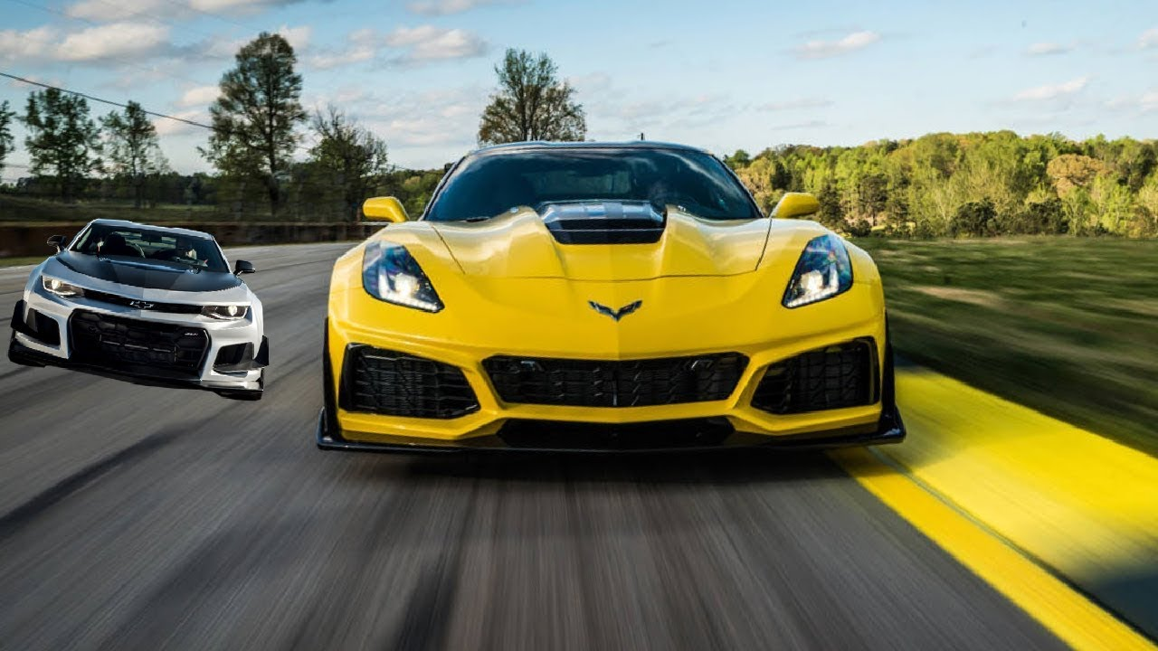 2019 Chevy Corvette Zr1 Vs Chevy Camaro Zl1 1le Youtube