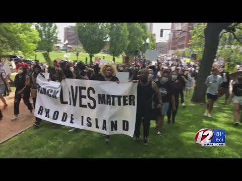 Thousands gathered in Providence, peacefully protesting the death of George Floyd