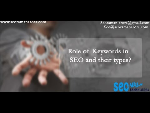 Role of Keywords in SEO and their types | Seo | Wordpress Tips and tricks