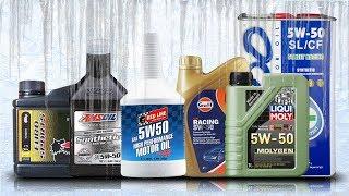 Olej 5W50 Test Zimna -30°C Amsoil 5W50, Red Line 5W50, Liqui Moly 5W50, Xado 5W50