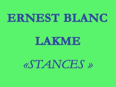 Ernest Blanc   Gianna d'Angelo   Lakmé   Stances   Ton doux regard se voile   chef  Georges  Prêtre