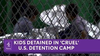 Inside 'cruel' US migrant detention camp for kids
