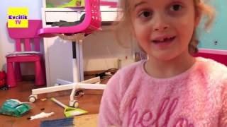 Barbie Barbie her yer Barbie | Nil ve Zeynep oda baskını | Evcilik TV HD