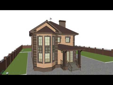 Уютный двухэтажный дом с террасой    C-150-ТП