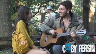 Homeless Man Picks Up Girls With Amazing Voice! MP3