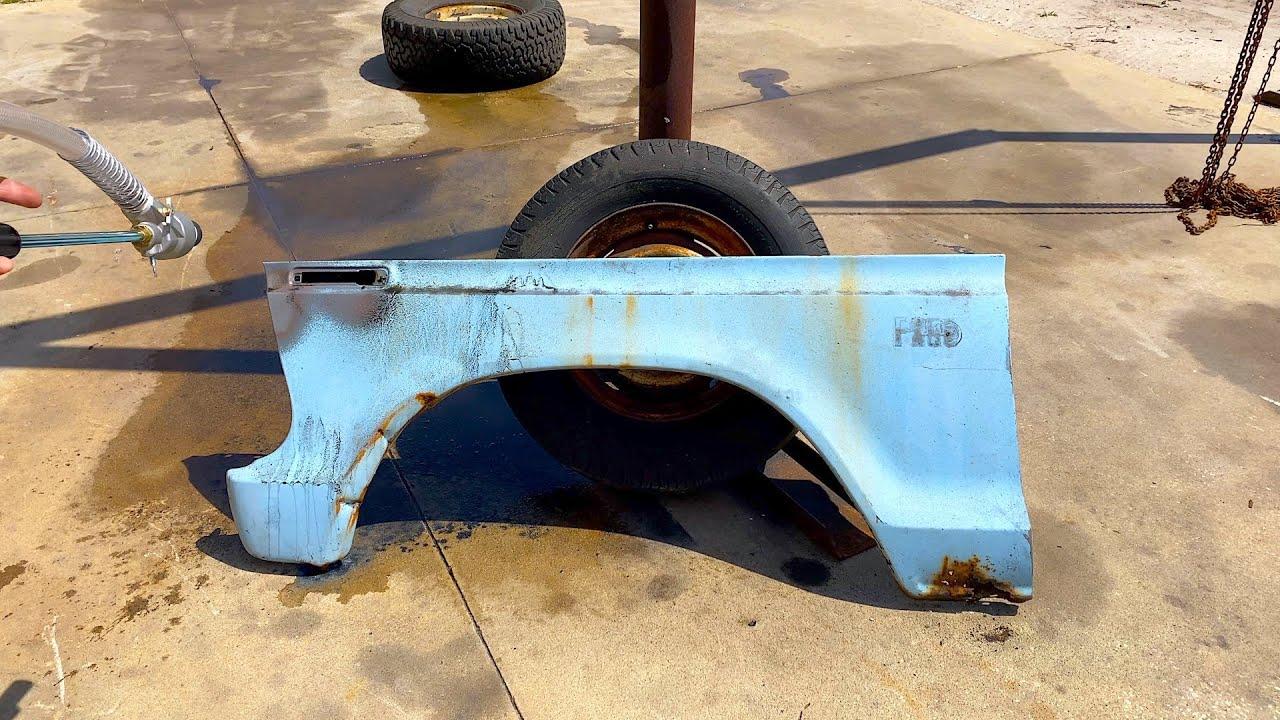 SWAMP DRAGON RESCUE | Vapor Blasting, Wet vs Dry, Restoring a Ford F250, Resurrection Restoration!