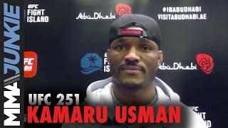 UFC 251: Kamaru Usman calls JorgeMasvidal the 'biggest, baddest' opponent he's ever faced