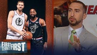 Nick and Cris reflect on Dirk Nowitzki & Dwyane Wade's legacies | NBA | FIRST THINGS FIRST