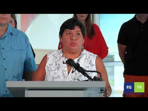 EQTX trans parents news conf