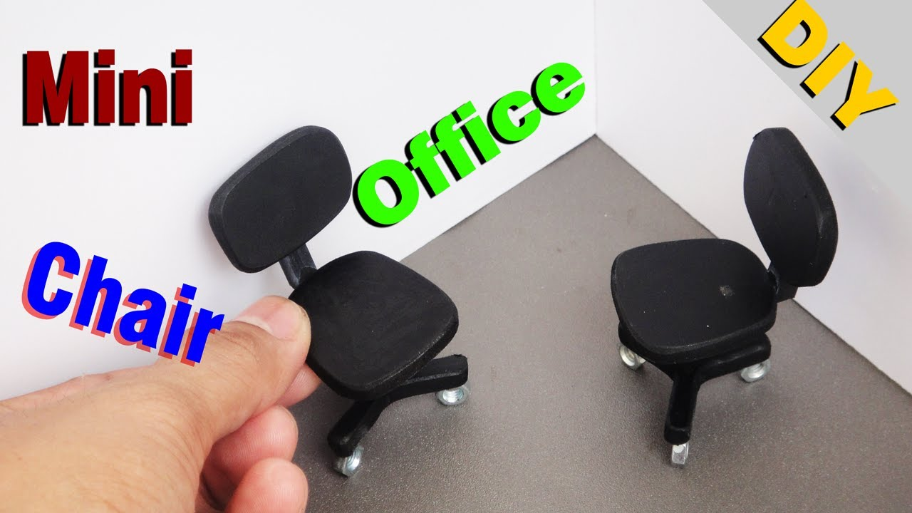 Desk Chair Diy Graco Harmony High Miniature Realistic Office Chairs Dollhouse 1 Youtube