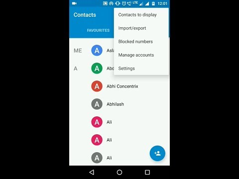 How to Display Sim Contacts in Moto and others