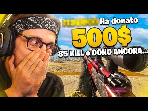 SE FATE 85 KILL DONO 500$...E SUCCEDE QUESTO!