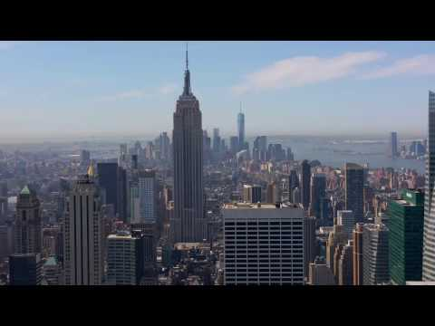 [4K HD] TOP OF THE ROCK - Rockefeller Center - Lower Manhattan View - NYC 2015
