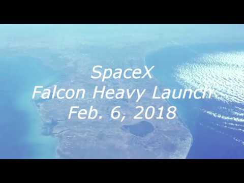 SpaceX Falcon Heavy Launch Feb 6, 2018