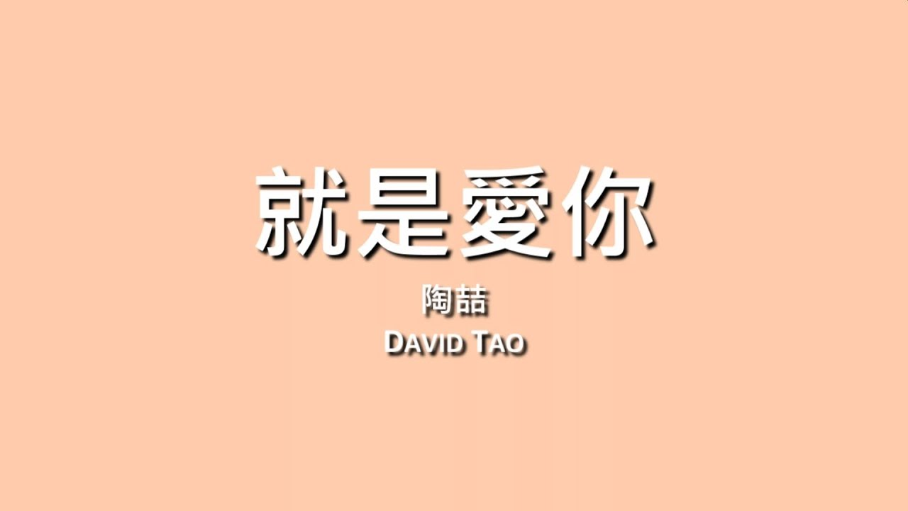 陶喆 David Tao / 就是愛你【歌詞】