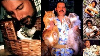 Freddie Mercury with animals
