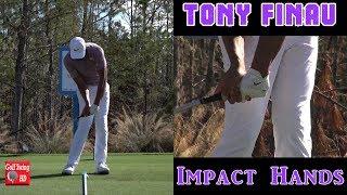 TONY FINAU (HANDS AT IMPACT) IRON GOLF SWING 1080 HD