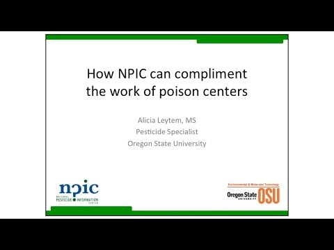 How NPIC can compliment the work of poison centers