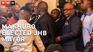 A new mayor for Johannesburg was elected on Wednesday at the City's chambers. The elections took place following Herman Mashaba's resignation in November. Geoff Makhubo was elected in the first round of voting.