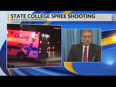 State College Police give update on shooting at news conference