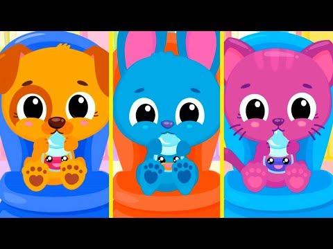 Мультики для детей   Цветные коктейли и профессии для малышей в детской игре