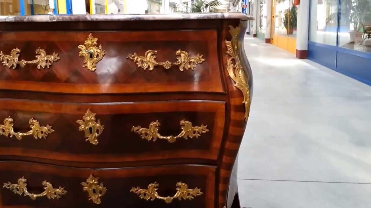 Antiquariato Antico Comò Luigi XV - YouTube