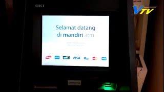 CARA SETOR TUNAI DI ATM BANK MANDIRI