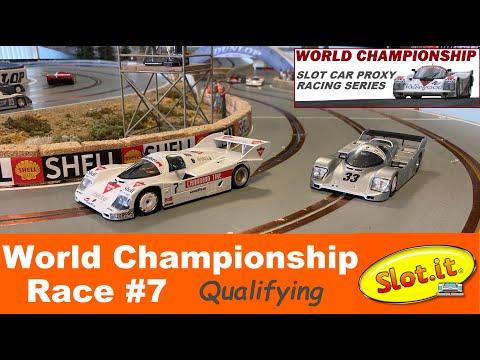 Slot.it Porsche 956 962 Race 7 Qualifying.  2021 World Championship Proxy Slot Car Racing.