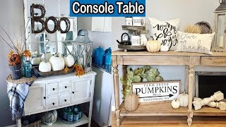 30 Ideas To Style Your Console Table For Fall | Modern Console Table