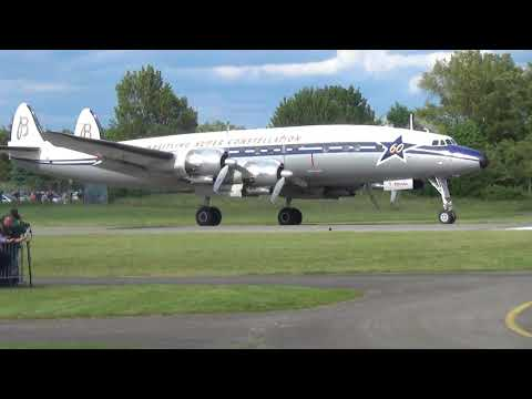 """Super Constellation, Taxi and Take Off at Speyer. """"Pure Sound"""""""