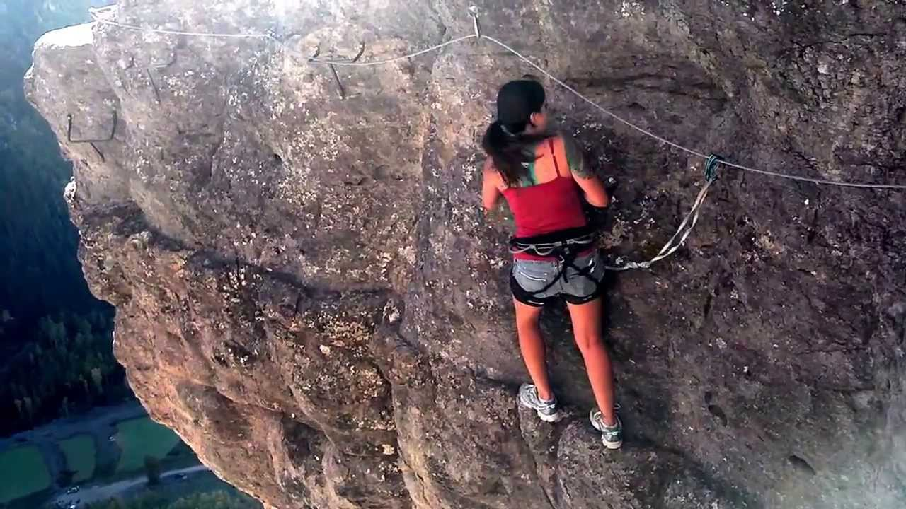 reymi doing the via ferrata in telluride youtube. Black Bedroom Furniture Sets. Home Design Ideas