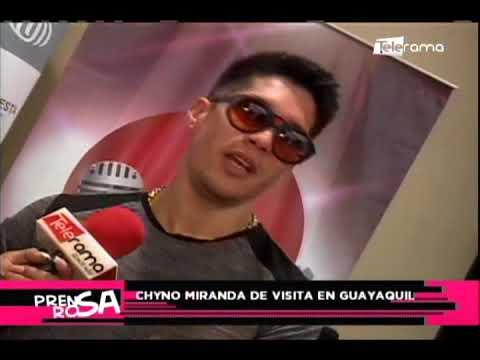 Chyno Miranda de visita en Guayaquil