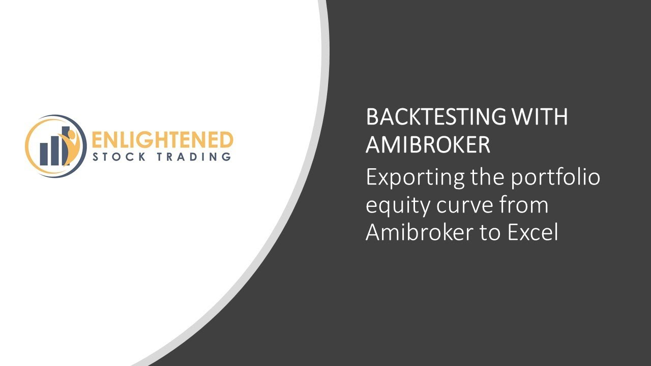 Exporting the portfolio equity curve from Amibroker to Excel