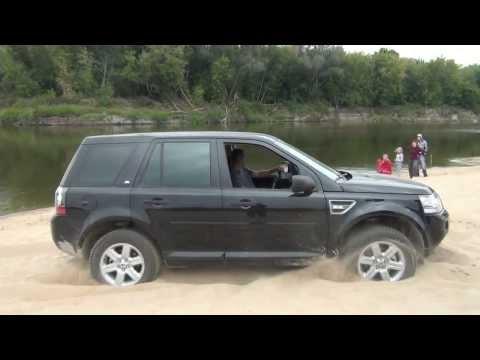Mitsubishi L200, Nissan, Land Rover Freelander 2, небольшой тест полноприводных авто на пляже.