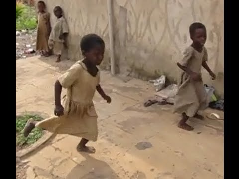 Africa School Children Playing game Like Hopscotch