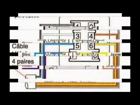 schema branchement prise telephone adsl youtube. Black Bedroom Furniture Sets. Home Design Ideas