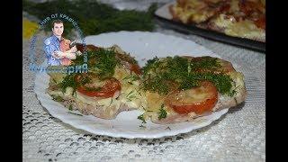 Вкусное и сочное мясо по французски в духовке из свинины с помидорами