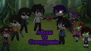 Afton family vs creepypasta (pt 2 of batim vs aftons)