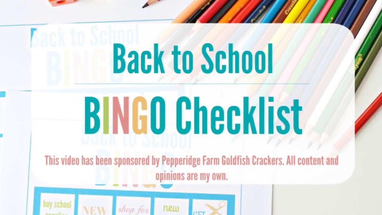 graphic regarding Back to School Bingo Printable identify Back again in direction of College Printable BINGO Board Record
