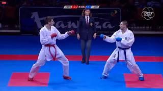 53rd EKF Senior Championships - Kumite Male -75Kg - E. Grabovic (CRO) - S. Horuna (UKR)
