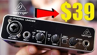 The Behringer U-PHORIA UMC22 Audio Interface - Music Gear on a Budget #2
