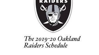 2019-20 Oakland Raiders Schedule