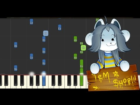 Undertale - Tem shop (Dogsong) - Synthesia Piano cover