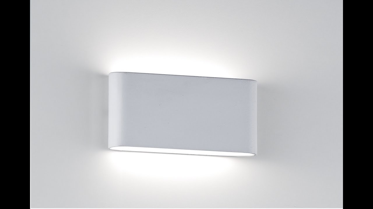 Applique led ultrasottile per interno esterno youtube