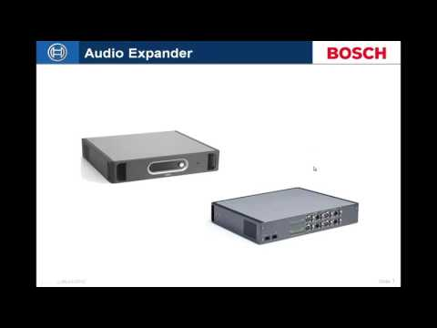 Bosch Security - Praesideo Basics #1 System Components Overview