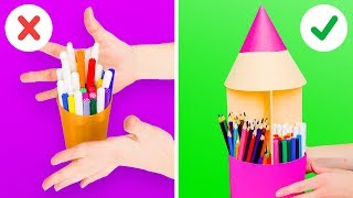 8 CREATIVE DIY DESK ORGANIZERS FOR KIDS